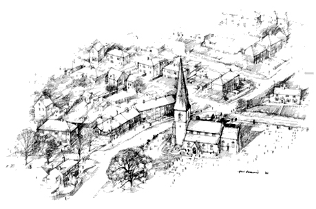 Pencil drawing of North Ferriby